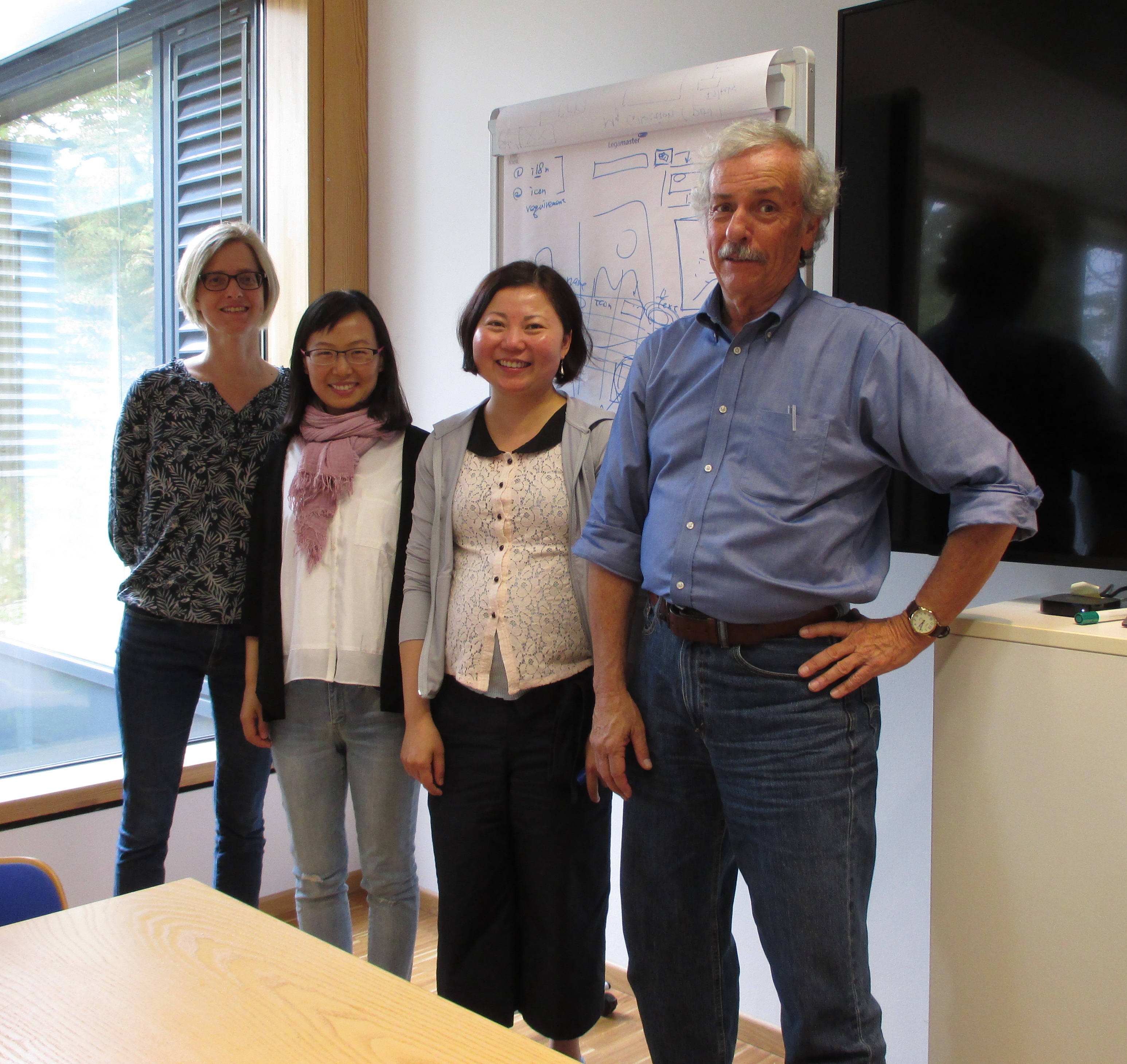Affiliated Scholars (left to right): Gerritsen, Zhang, Wu, and Hammond