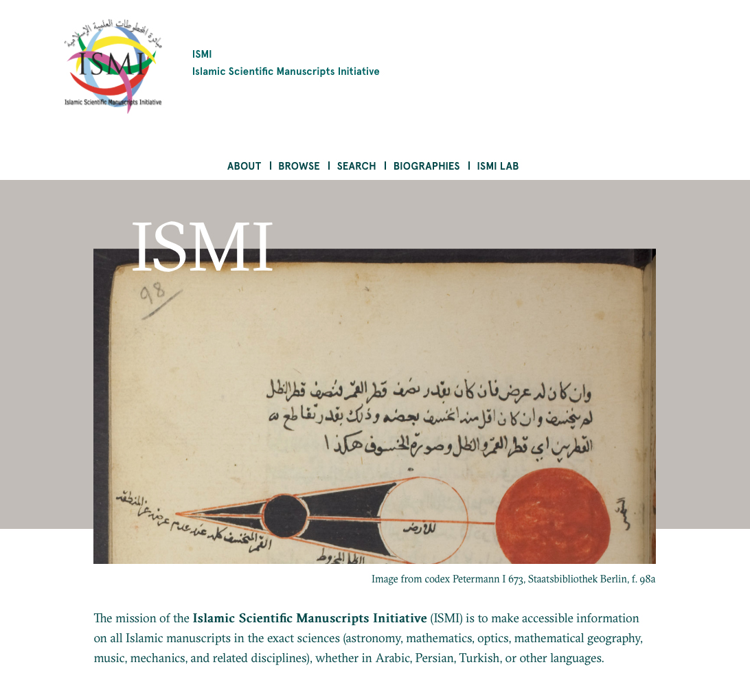 ISMI front page