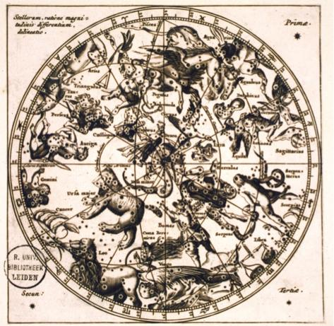 Fig. 4: Anonymous celestial map, seventeenth century, the Northern Constellations. Leiden University Library, COLLBN Port 169 N 3.