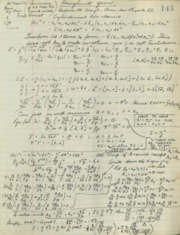RG_Blum_american_philosophical_society_philadelphia_john_archibald_wheeler_papers_series_v._notes_and_notebooks_volume_40_relativity_notebook_2_1953-1954.p4.png