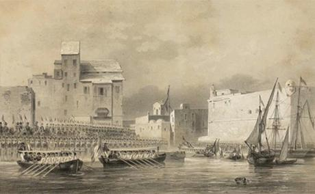 Port of Tunis, Entrance by the S.A. Ryale from the Port of La Goulette. Source: Bibliothèque nationale de France.