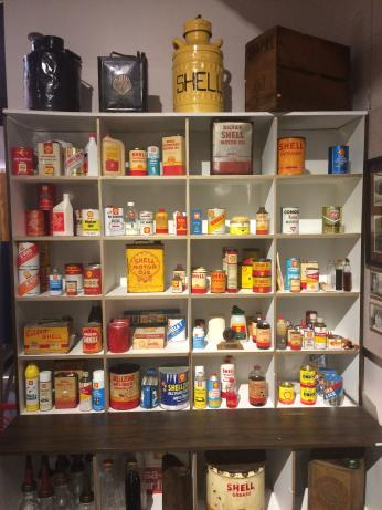 Shell products display, Wood River Refinery Museum. Photo: Thomas Turnbull.