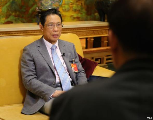 Pulmonologist Zhong Nanshan (鍾南山), the face of China's Covid-19 containment efforts and public celebrity, in an interview.