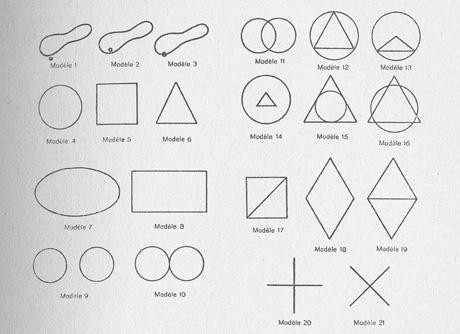 Primjer dječnih crteža geometrijskih likova