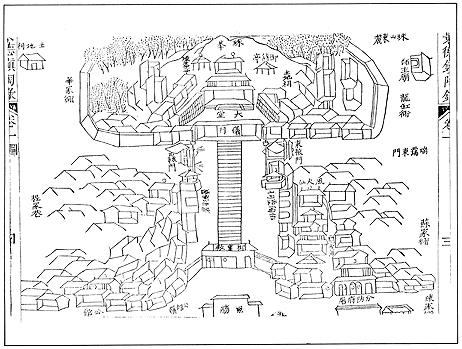Map of the imperial kiln location, in: Fuliangxian zhi 浮梁縣志 [Fuliang district gazetteer]