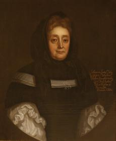 Anonymous, Portrait of Johanna St. John circa 1690, Collection of Lydiard House and Park. Image courtesy of Lydiard House and Park, Swindon.