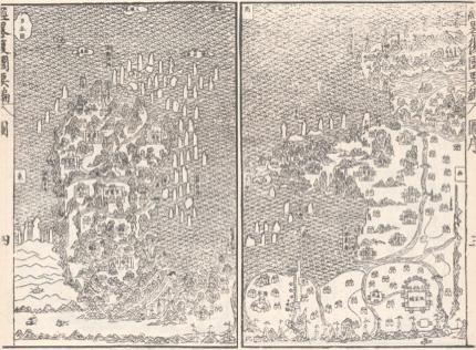 Late 16th century map of East China and the Korean peninsula