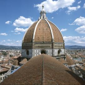 View of the Cupola of Santa Maria del Fiore, Florence.