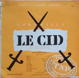 Le Cid (TNP, 1956). Graphic model of the cover designed by Jacno. With the kind permission of Corinne Juresco and the association Les Amis de Marcel Jacno.