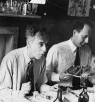 Murray Gell-Mann and Lev Landau at the Moscow Conference, 1956