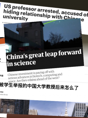 China in the Global System of Science news headlines