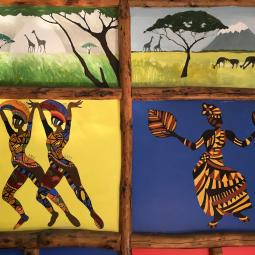 Detail of a mural at the Zhejiang Normal University Institute of African Studies