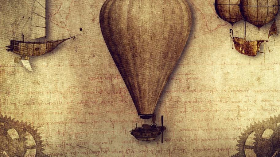 Leonardo da Vinci, hot air balloons. Source: Wikimedia Commons.