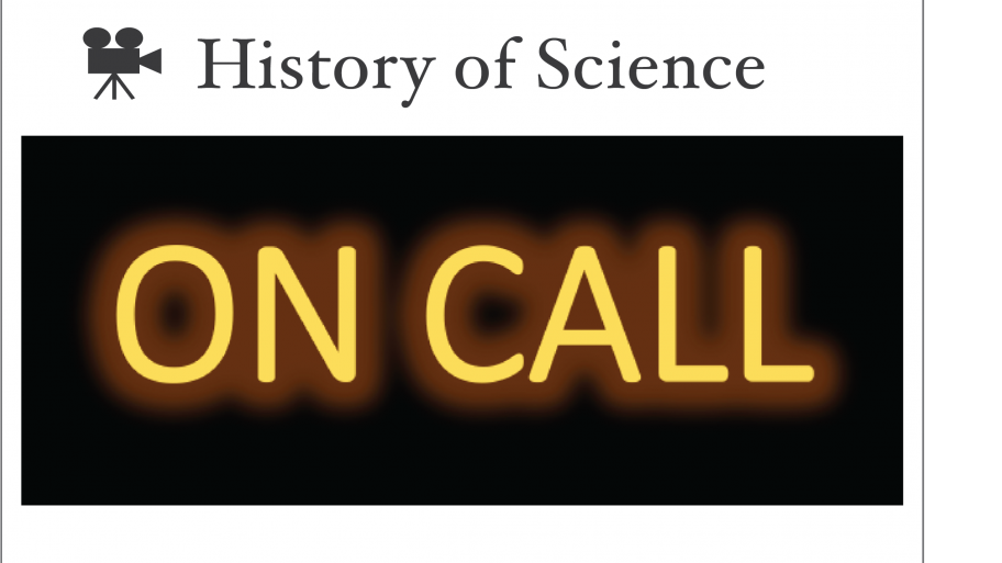 History of Science ON CALL logo with camera